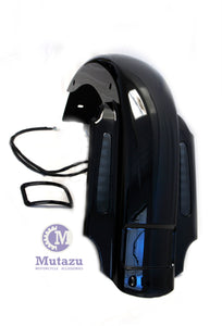 "Mutazu CVO 4"" Extended Rear Fender with LED & Wire Harness for 93-08 Harley Touring"