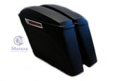 Mutazu Matte Black CVO No Cutout Extended Rear Fender,Saddlebags Package 2014-up