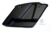 Matte Black No cut Out Extended Stretched Saddlebags for 14-up Harley Touring
