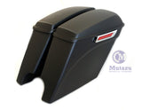 Matte Black CVO Dual Cut Extended Rear Fender w/ saddlebags package set 2014 up Harley Touring
