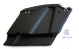 Matte Black Curve Extended Saddlebags Stretched Bags for 2014 up Harley Touring