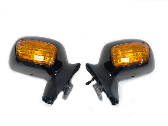 Mutazu Black Assembly Rear View Mirrors for 2001-2012 Honda Goldwing GL1800