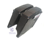 "Black Cherry 4"" Stretched Extended Saddlebags w/ 6x9 speaker lids for HD Touring"