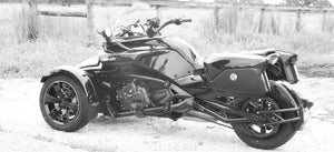 Universal Detachable hard Saddlebags for Can Am spider Ryker Saddle bags...