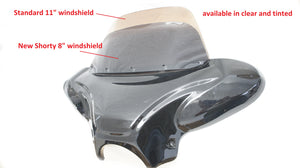 "Low Profile 8"" Replacement Clear Windshield for Mutazu 34"" Universal Batwing Fairing"