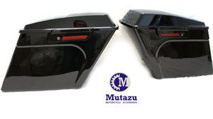 "Black out 4"" Stretched Extended bags for Harley Touring Hard Saddlebags w/ 6x9 Speaker lids"
