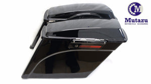 "Black Out 5"" Extended Hard Saddlebags for Harley Touring"