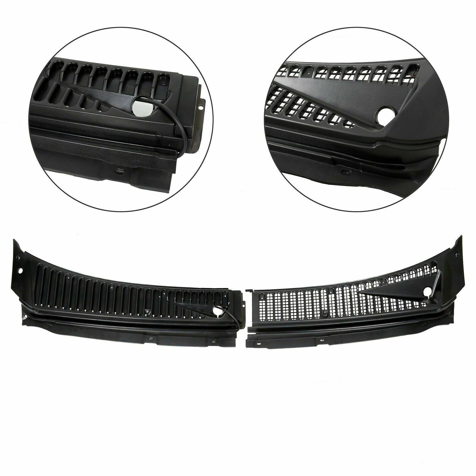 HECASA Windshield Wiper Cowl Panel Grille Set Compatible with 2011 ...
