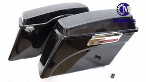 Mutazu Complete Saddlebags set w/ Dual 6x9 Speaker Lids for Harley Touring (94-13)