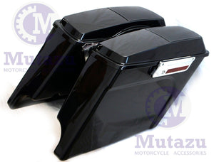 "Complete Harley Touring 4"" Extended SaddleBags with 6x9 Speaker Lids Saddle bags(94-2013)"