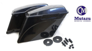 "4.5"" Unpainted Extended Hard Saddlebags for 94-2013 H-D Touring"