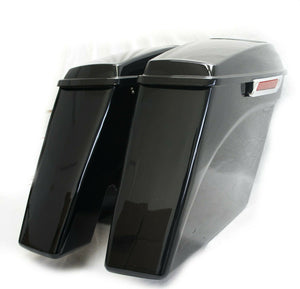 "Mutazu 4.5"" No cut Out Extended Stretched Saddlebags for 14-up Harley Touring"