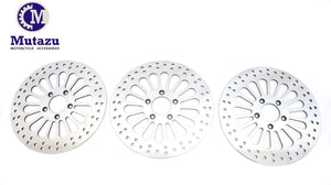 "3 PC Mutazu Super Spoke 11.8"" 2 Front 1 Rear Brake rotors disc for Harley 08-13"