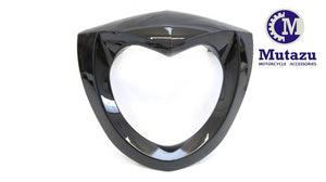 Mutazu Vivid Black Headlight Bad Boy Bezel Scowl for Victory Cross Country