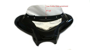 "Low Profile Clear 8"" Windshield for Mutazu 38"" Universal Batwing Fairing"