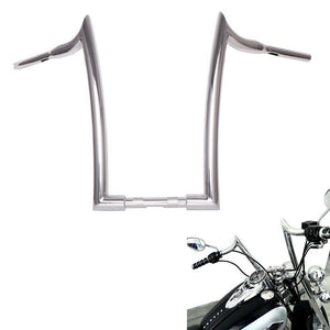 "Demon Horns 1-1/2"" Chrome 18"" 16"" 14"" 12"" Ape Hangers Handlebar for Harley Touring Softail Dyna Sportster"