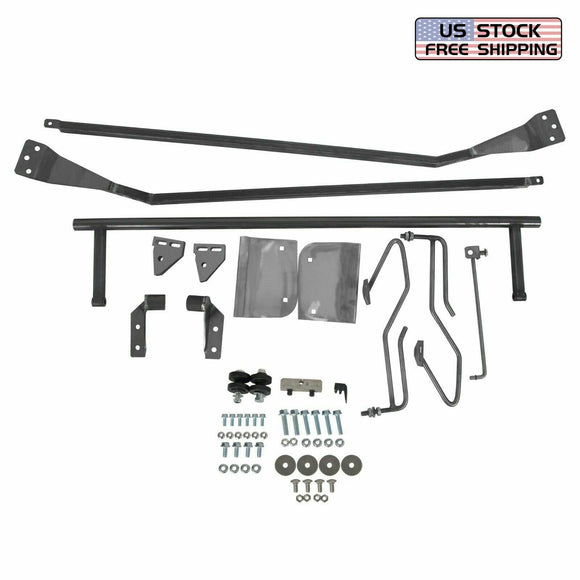 For 1953-1956 Ford F-100 Truck Hood Tilt Flip Kit Stainless Combo Conversion Kit***
