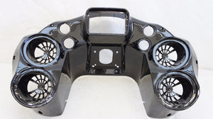 "Double DIN Inner Fairing w Quad 6.5"" Speaker Pods for Harley Road Glide 1998-2013"