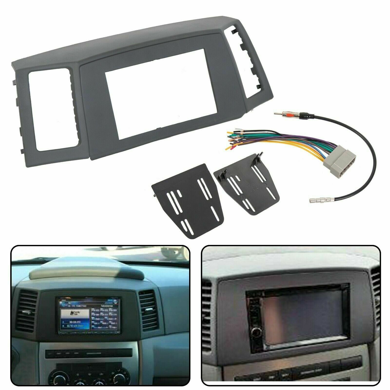 Double Din Radio Dash Kit Wiring Harness For 2005-2007 Jeep Grand Cher –  Mutazu Inc. | 2005 Jeep Grand Cherokee Radio Wiring Harness |  | Mutazu