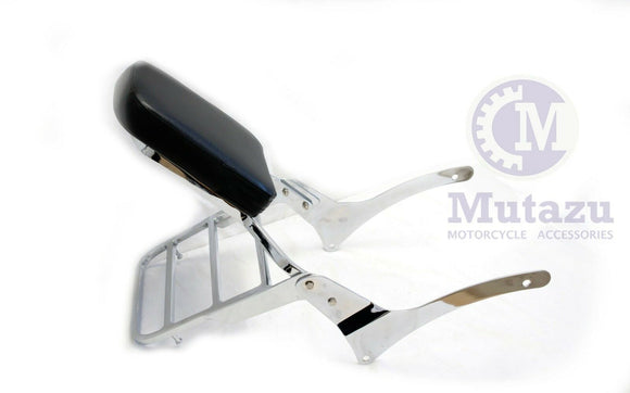 Mutazu Sissy Bar Backrest & Luggage Rack Set for Yamaha Road Star XV1600 XV1700