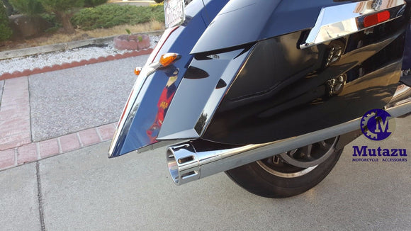 MUTAZU Chrome 4 Thunder VM-03-CC Slip On Mufflers Exhaust Victory Cross Country Road