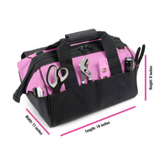 Pink Tool Bag with Tools