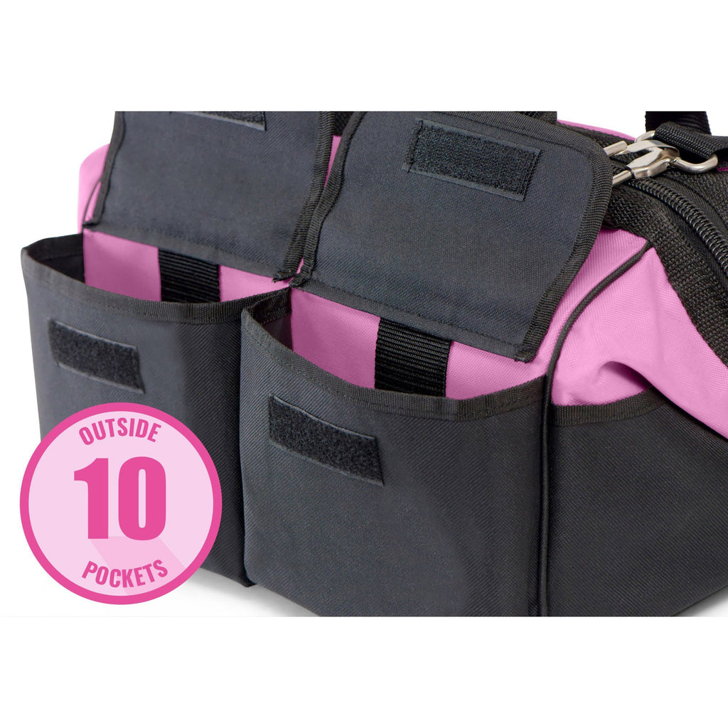 "38165560d8 Pink Power 16"" Tool Bag for Women with Shoulder Strap"