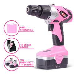 Pink Power Drill components