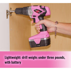 Pink Power PP182 18 Volt NiCad Cordless Drill Kit