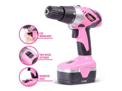 Pink Power Drill features