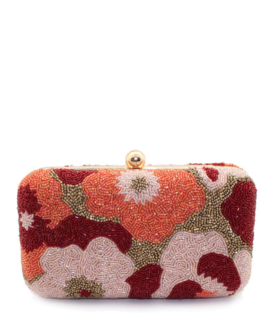 Beaded Clutch - Floral