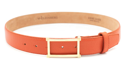 Gold Window Buckle Belt - Orange