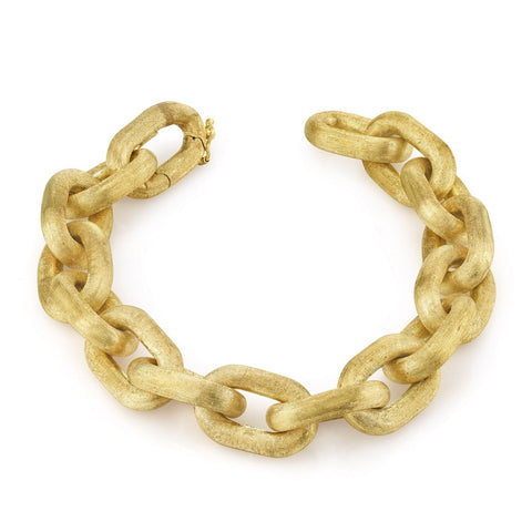 Brushed Gold Link Bracelcet (Large)