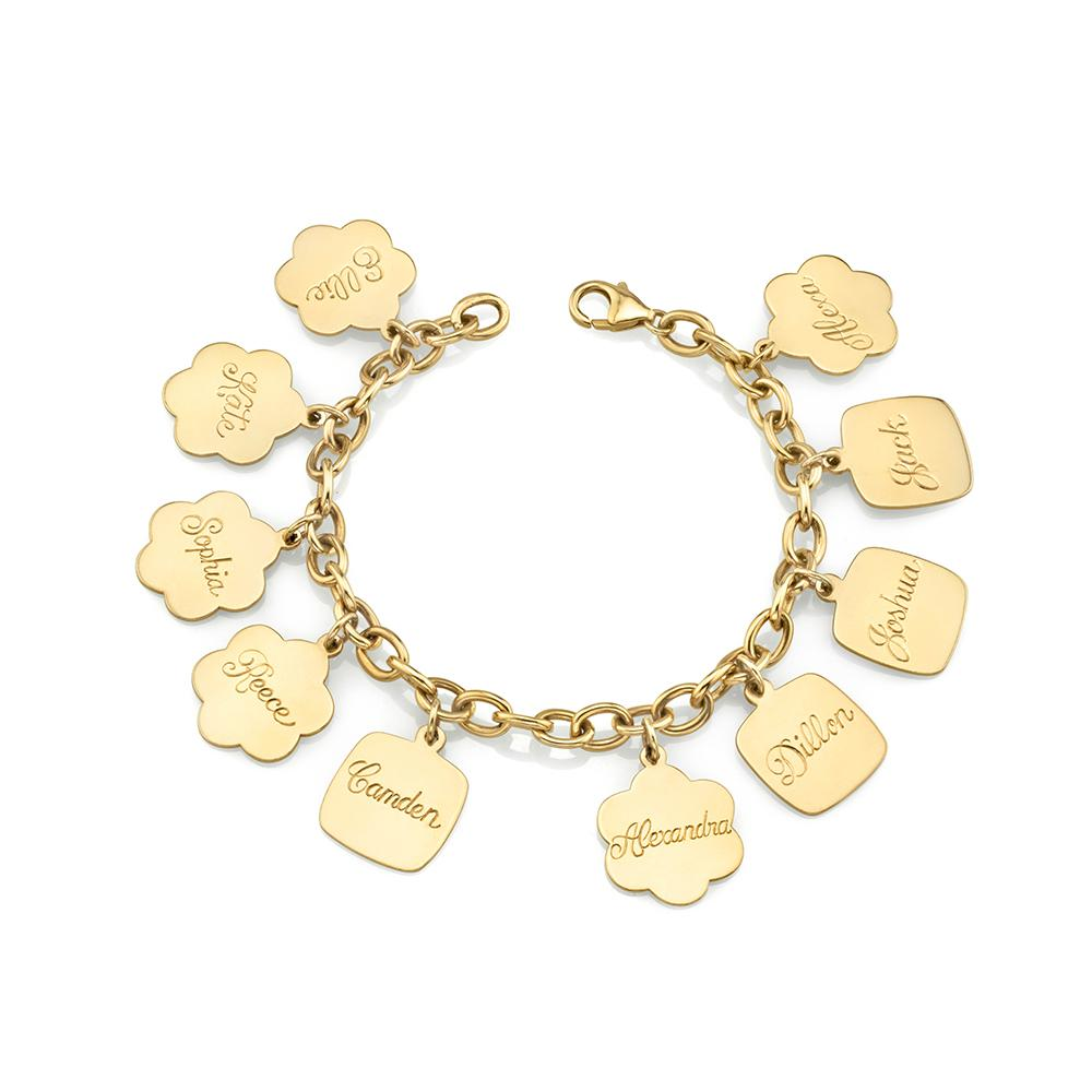 Cute as a Button - Gold Solid Link Charm Bracelet (Charms sold separately)