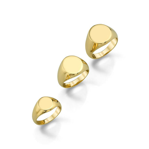 Cute as a Button -Gold Signet Ring