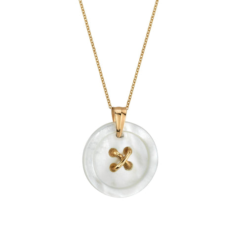 Cute As A Button - Button Pendant with Chain - Small