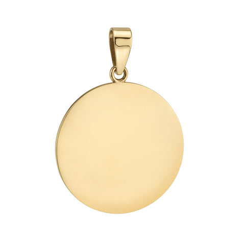 Cute As A Button - Handmade Gold Disc Charm - Large