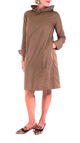 Katharina Hovman - Funnel Neck Dress - Camel