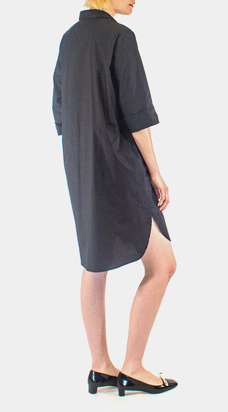 WHYCI - Ruffle Shirt Dress - Black