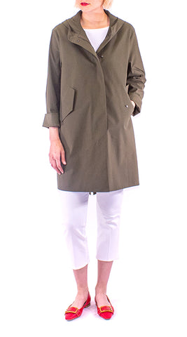 Harris Wharf - Fishtail Parka - Military Green