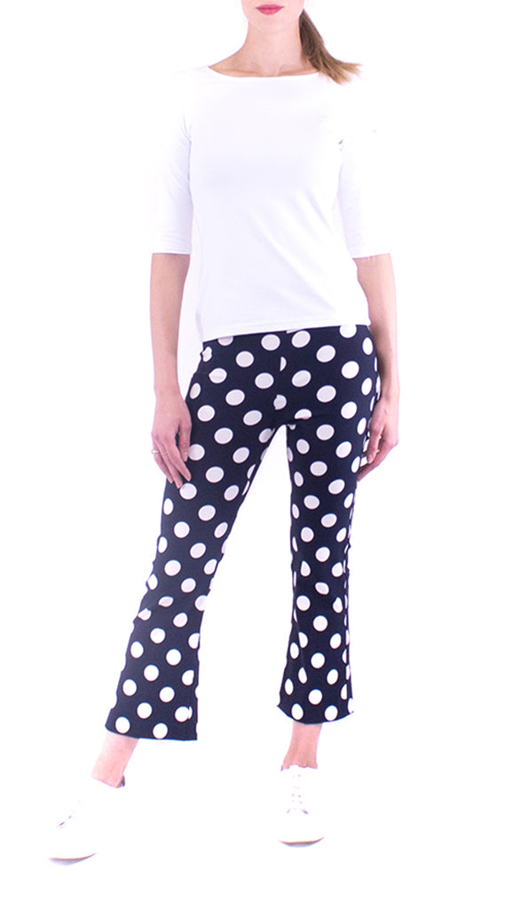 Avenue Montaigne - Leo - Navy / White Polka Dot