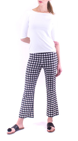 Avenue Montaigne - Leo -  Black / White Check