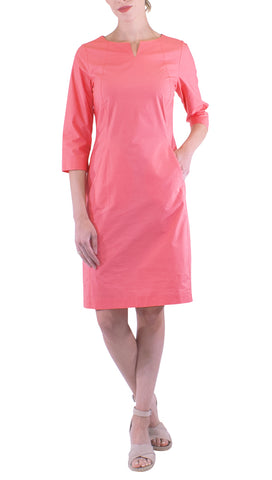 Rosso35 - Sheath Dress - Coral Dress