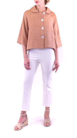 Annam - Piko Cropped Jacket - Rose Gold