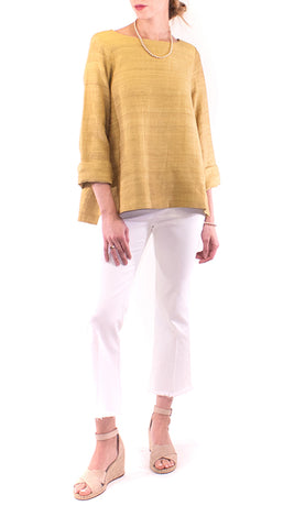 Annam - Boatneck Tunic - Yellow Gold