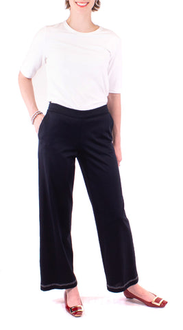 Contrast Stitched Pant - Navy / White