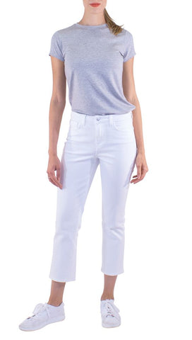 L'Agence - Nadia Crop - White