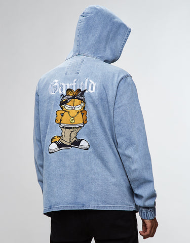 ALLDD LEFT SIDE GARFIELD HALF ZIP HOODY