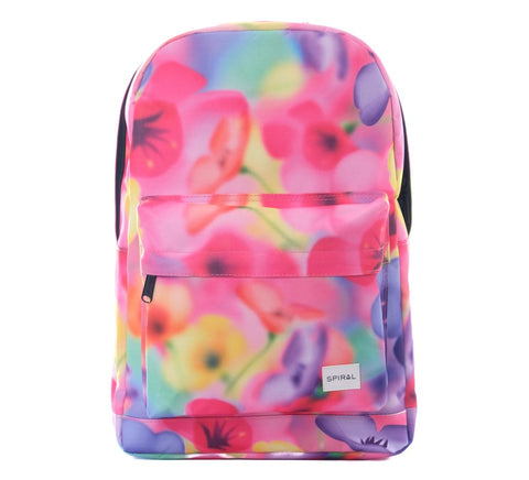 Florescent Floral Backpack