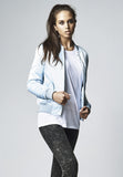 Ladies Satin Bomber Jacket